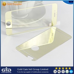 Gold Mirror Surface Plating Tempered Glass Screen Protector Film for iPhone 6 4.7""