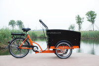 2015hot sale adult three wheel electric Cargo Bike/Electric tricycle model 6 speeds UB9031E-6S