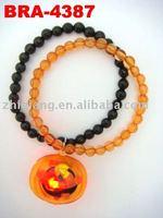 Halloween bead with flashing pumpkin bracelet