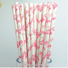 China manufacturer Fully compostable paper straw Food grade with dfferent size and color