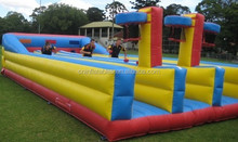 Inflatable bungee run,basketball dunk bungee
