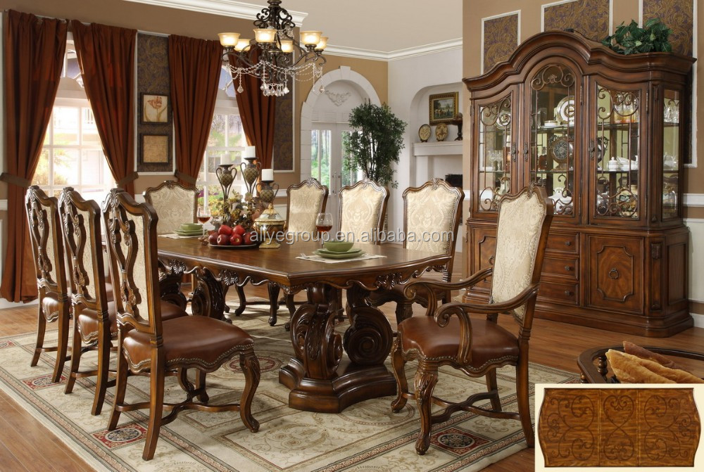 Eetkamer Massief Hout : Massief hout fancy eetkamer stoelen eettafel 9004a eetkamer sets