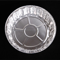 Food grade round aluminium foil cake/pizza baking pans/plates/trays
