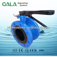 ductile iron double flange butterfly valve manufacturers