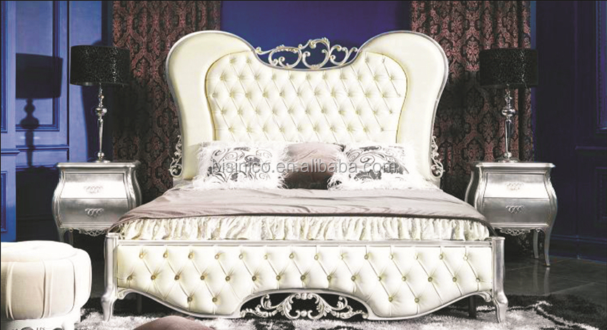 Ornate Design Series Wooden Bed Upholstered Luxury King