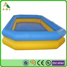 PVC inflatable adult swimming pool toy, cheap inflatable poo, rectangular inflatable pool