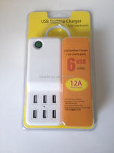 Free print LOGO 6 port usb wall charger adapter for Hua wei 4c (UK ,EU,US,AU version)