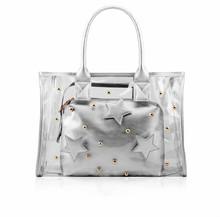 Hot sale Silver Star clear PVC handbag