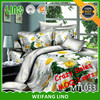 3d duvet cover set/massage bed sheets/wholesale sheet sets cotton