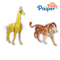 Painting kit paper models animals 3d shapes toy