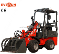 Everun Italy Hydrostatic System ER06 Mini Wheel Loader With Pallet/Grass Forks