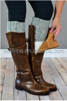 2015 Fashion Short Style Gray Hollow Crochet Leg Warmers
