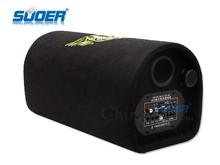Suoer Leather Car Subwoofer 6 Inch Tunnel Type Car Audio Subwoofer 12V/24V/220V FR Car Subwoofer