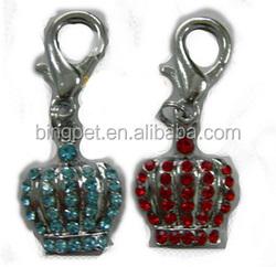 2014 new wholesale pet products crown rhinestones pet charm pet jewelry