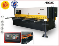 sheet metal CNC lathe machine hydraulic guillotine shearing machine manufacturer Accurl brand shearing machine