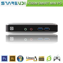 Aluminium Alloy Silver Chassis Smart MINI PC Thin Client 2GB RAM 8GB SSD Linux or Win7 OS Metal Bracket can be wall-mounted