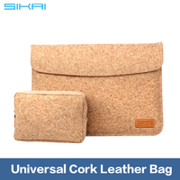 """Hot Sleeve Case Cork Bag For 9.7"""" Tablet Wooden Leather case For iPad 1 2 3 4 Carry Bag"""