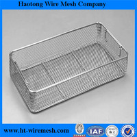 OEM Anping Factory Food Grade 316 stainless steel wire mesh basket