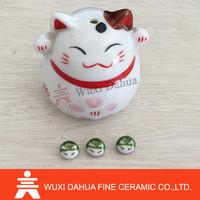 Wholesale Lovely Design Ceramic Cat Ornament