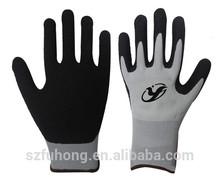 13g de espuma de látex recubierto en la palma de seguridad guantes de trabajo