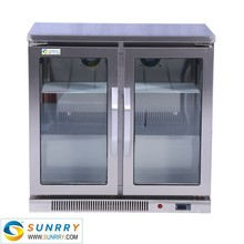 New Design Commercial Beer Cooler Static Cooling Type Counter Top Refrigerator With CE Certification (SUNRRY SY-RC230A)