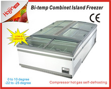 No frost island fridge/supermarket refrigeration equipment for clients