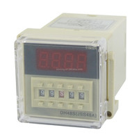 DH48S-2Z LCD Display Time Timer Delay Relay 8-Pin DPDT 0.01S-99H99M AC 110V