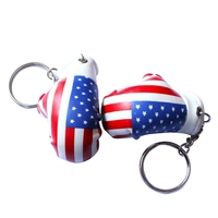 Boxing glove key ring for promotional items logo printing is welcome