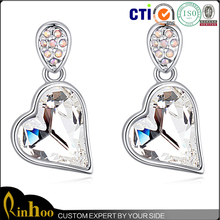 a jewelry will appeal to you to have a purchase via its luxury noble design hot sale heart jewelry earring