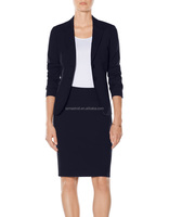 slim fit ladies office skirt suit pattern for ladies suit design & manufacturing