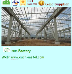 low price prefab steel building/warehouse/factory/plant/dining hall/hangar/super market/Gym