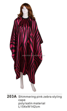 Professional Hairdressing Zebra Hair Salon Cape, Customized Barber Cape
