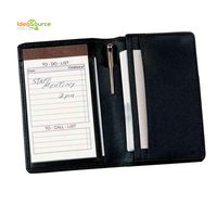Promotive Gift Custom Personalized Leather Business Card Holder With Notepad