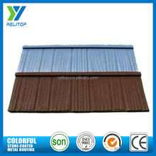 Interlocking stone steel roofing sheet/ stone coated metal roof