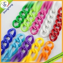 Colorful Plastic Link Chain,Various Shape Plastic Chain