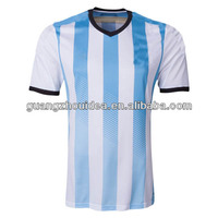 Newest 2014 World Cup Argentina Home Thailand Quality Original Nation Team Soccer Jerseys,Soccer Uniform,Football Shirts