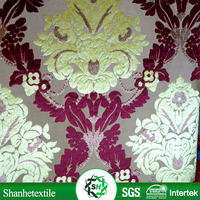 Export to Nigeria and Cameroon 100% polyester dark red velvet fabric