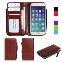 2015 Hot Products PU Leather Wallet Flip Case For Universal 4.5-5.0 inch