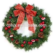 Decoración de la guirnalda de PVC corona de adorno navidad