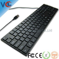 VMQ-13 High Quality Calculator Multimedia Ultra Slim Usb Wired Keyboard