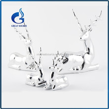 beautiful ceramic silver sitting reindeer christmas reindeer decorative