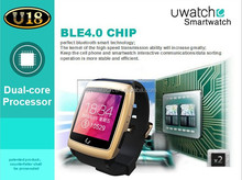Dual core 3g wifi smart mobile watch phone with facebook message weather push QQ Wechat 3g net work watch