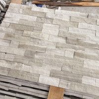 white wooden marble mosaic wall cladding