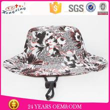 popular sunshine custom made big brim sunscreen bucket hat