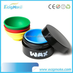 2015 New arrival hot sale colorful silicone container wax vaporizer different capacity wax silicone jars cheap wax container
