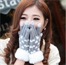 Factory direct sell Winter 3 fingers touch screen gloves,soft Plush gloves