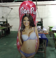 custom made inflatable punching bags with promotion printing for advertising display