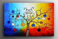 hand-painted colour Rich tree High Q. Home Decoration Modern Abstract Oil Painting on canvas16x20inch framed on the back mixorde