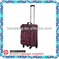 Red Wheeled Flight Bag