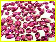 8#,10#,12#,14#,16#,18# Crystal Sew on &Hotfix Flatback Glass Chaton Stone